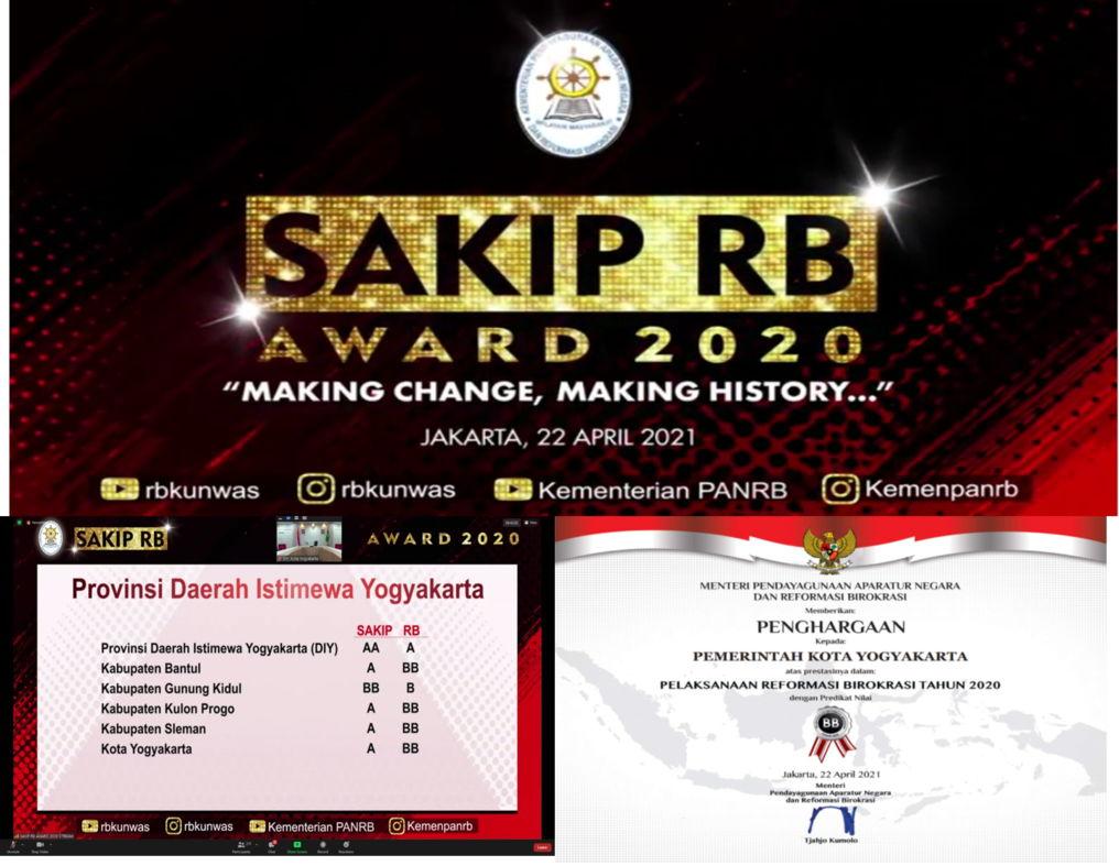 Pemerintah Kota Yogyakarta raih kembali SAKIP dengan predikat A dan Indeks Reformasi Birokrasi dengan predikat BB